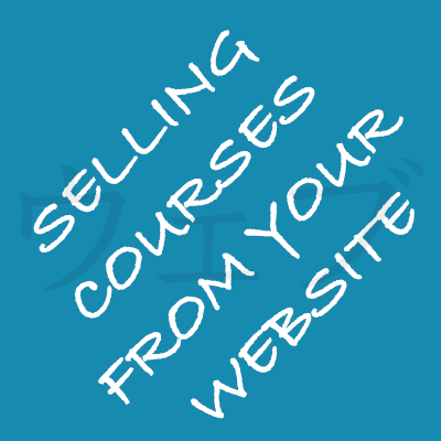 selling course from your website