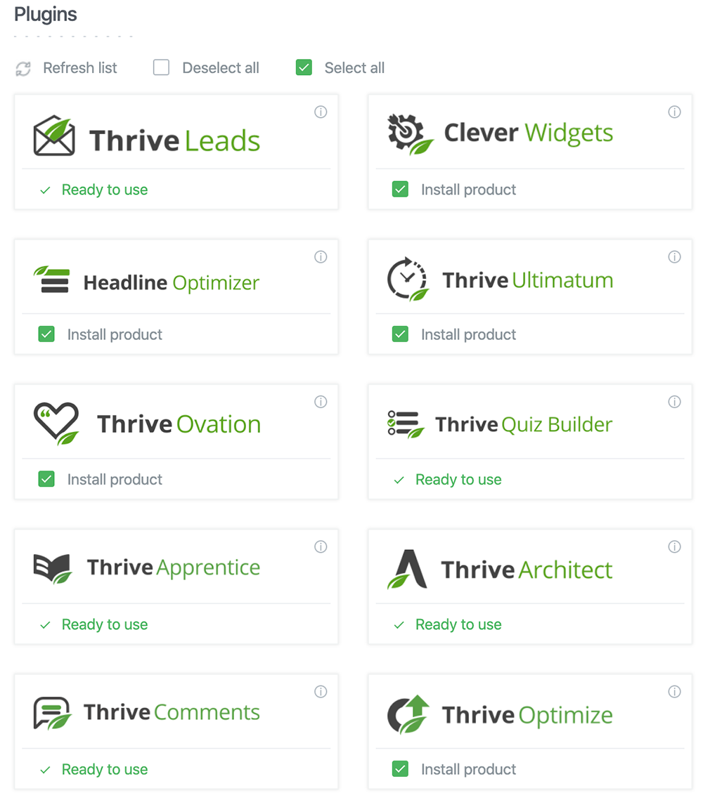 Thrive Themes Plugins